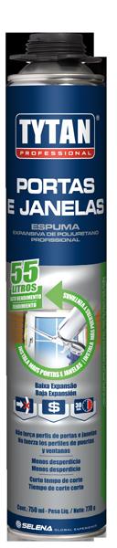 Espuma espansiva profissional Portas e Janelas - 750ML / 770G PISTOLA